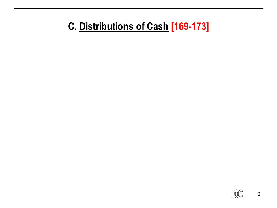 C. Distributions of Cash [169-173]